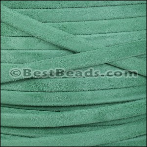 5mm flat GOAT SUEDE leather JADE - per 20m SPOOL