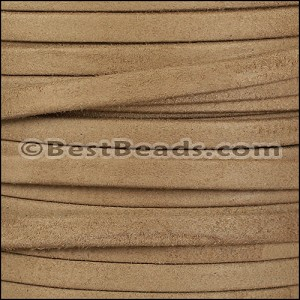 5mm flat GOAT SUEDE leather TAUPE - per 20m SPOOL
