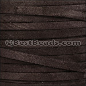 5mm flat GOAT SUEDE leather BROWN - per 20m SPOOL