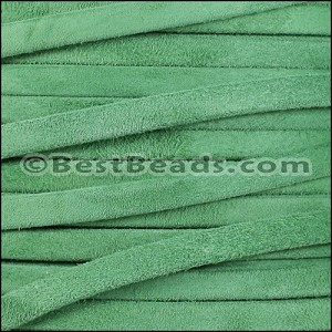 5mm flat GOAT SUEDE leather FERN GREEN - per 5 meters