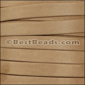 10mm flat GOAT SUEDE leather TAUPE - per 20m SPOOL