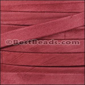 10mm flat GOAT SUEDE leather BURGUNDY - per 20m SPOOL