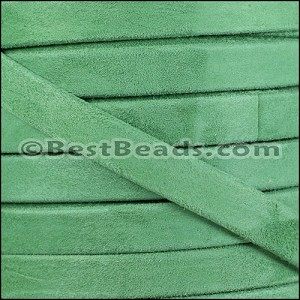 10mm flat GOAT SUEDE leather FERN GREEN - per 20m SPOOL