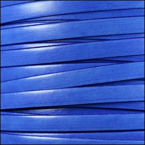 10mm flat ITALIAN DOLCE leather BLUEBERRY - per 2 meters