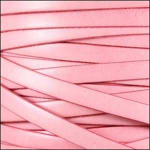 10mm flat ITALIAN DOLCE leather CARNATION - per 2 meters