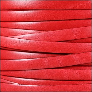 10mm flat ITALIAN DOLCE leather TOMATO - per 20m SPOOL