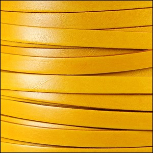 10mm flat ITALIAN DOLCE leather BUTTERCUP - per 20m SPOOL