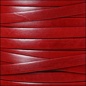 10mm flat ITALIAN DOLCE leather STRAWBERRY - per 20m SPOOL