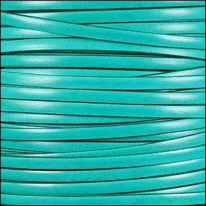 5mm flat ITALIAN DOLCE leather JADE - per 5 meters