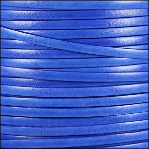 5mm flat ITALIAN DOLCE leather BLUEBERRY - per 5 meters