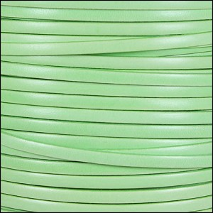 5mm flat ITALIAN DOLCE leather CUCUMBER - per 20m SPOOL