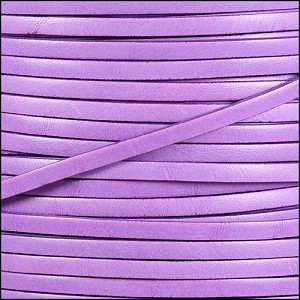 5mm flat ITALIAN DOLCE leather PETUNIA - per 20m SPOOL