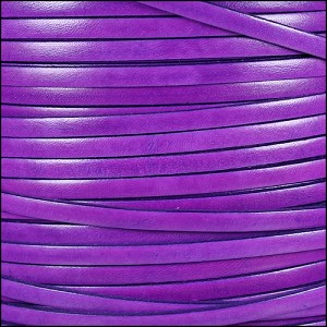 5mm flat ITALIAN DOLCE leather VIOLET - per 20m SPOOL