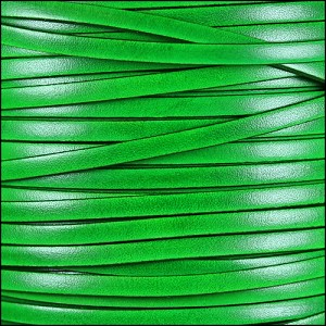 5mm flat ITALIAN DOLCE leather ZUCCHINI - per 20m SPOOL
