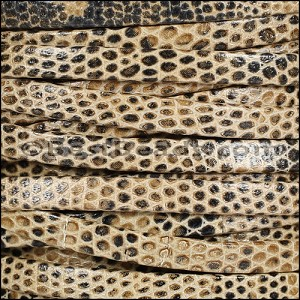 5mm flat LIZARD PRINT leather TAUPE - per 5 meters