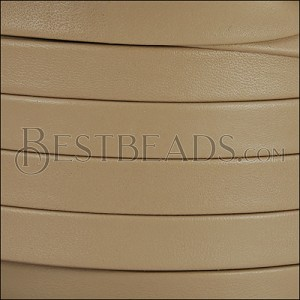10mm flat PREMIER leather SAND - per 2 meters