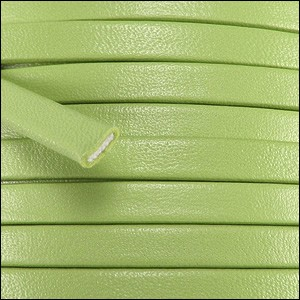 5mm flat PREMIER leather KEY LIME - per 20m SPOOL