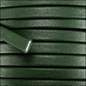 10mm flat PREMIER leather FOREST GREEN - per 20m spool