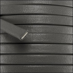 10mm flat PREMIER leather GREY - per 2 meters