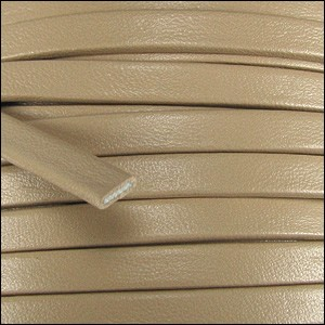 10mm flat PREMIER leather SAND - per 20m spool