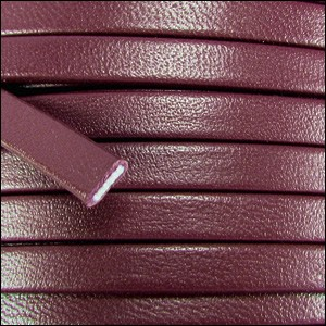 5mm flat PREMIER leather BURGUNDY - per 20m SPOOL