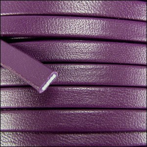 5mm flat PREMIER leather PURPLE - per 5 meters