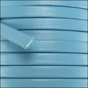10mm flat PREMIER leather TURQUOISE - per 20m spool