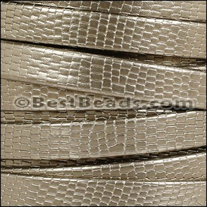 10mm flat GRECO leather LT BRONZE - per 2 meters