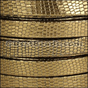 10mm flat GRECO leather BRONZE - per 20m SPOOL