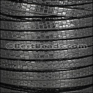 5mm flat GRECO leather CHARCOAL - per 5 meters