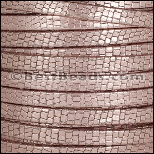 5mm flat GRECO leather PINK - per 5 meters