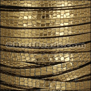 5mm flat GRECO leather BRONZE - per 5 meters