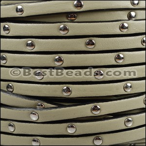 5mm flat STUDDED leather CEMENT - per 20m SPOOL