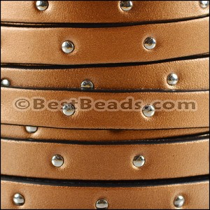10mm flat STUDDED leather MONEYPENNY - per 20m SPOOL