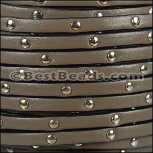 5mm flat STUDDED leather PUTTY- per 5 meters