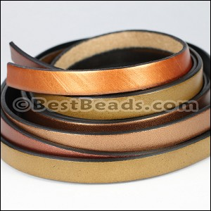 10mm Flat Leather Mixed Bundle DESERT GLOW - 5 meters
