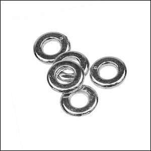small washer bead for 3mm cord - 100 pcs