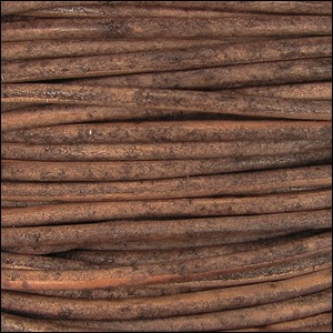 2mm round Indian leather - r.brown natural dye - per 25m SPOOL