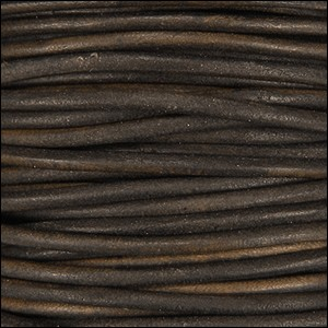 2mm round Indian leather - a.brown natural dye - per 25m SPOOL