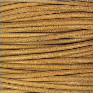 1.5mm round Indian leather - yellow natural dye - per 25m SPOOL