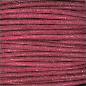 2mm round Indian leather - cyclman natural dye - per 25m SPOOL