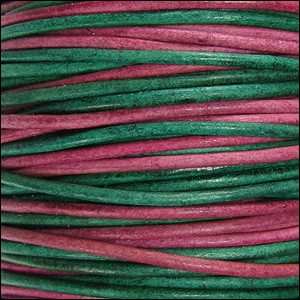 1.5mm round Indian leather - sunset natural dye - per 25m SPOOL