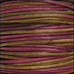 1.5mm round Indian leather - irasa natural dye - per 25m SPOOL