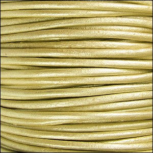 1.5mm round Indian leather - METALLIC maina - per 25m SPOOL