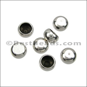 4mm round ball end caps SILVER - per 100 pieces