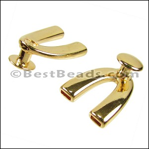 5mm flat WISHBONE DISC clasp SHINY GOLD - per 10 pieces