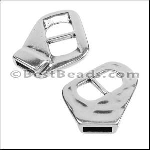 10mm flat V-SLIDE clasp ANT SILVER - per 10 pieces
