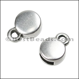 5mm flat CIRCLE end cap ANT SILVER - per 10 pieces