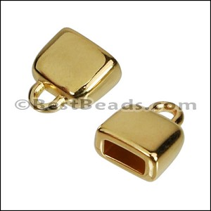 5mm flat ROUNDED loop end GOLD - per 10 pieces