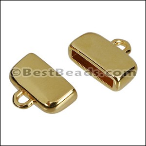 10mm flat ROUNDED loop end GOLD - per 10 pieces